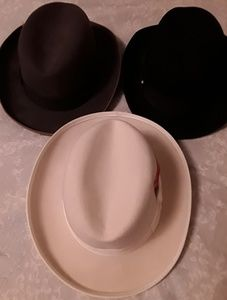 Godfather Homburg / Fedora-Black, Brown & Ivory